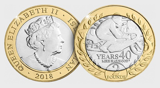 Mike Hailwood 40 Years £2 Coin - Commemorative