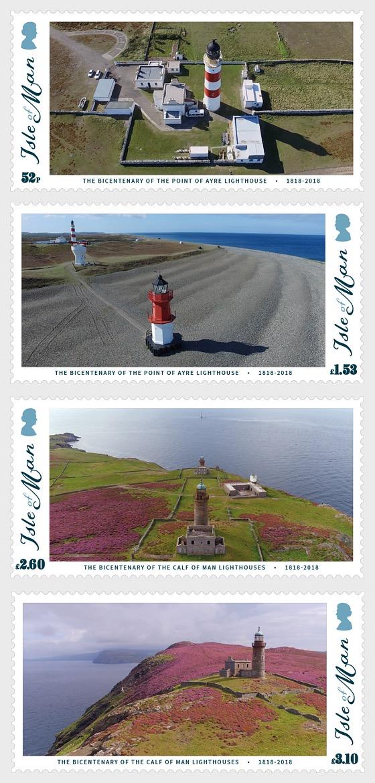 Isle of Man Lighthouses 200 - (Set Mint) - Set