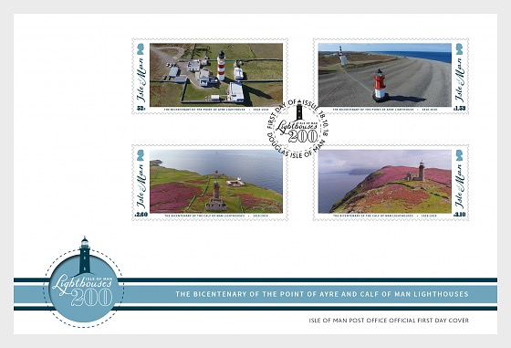 Isle of Man Lighthouses 200 - First Day Cover