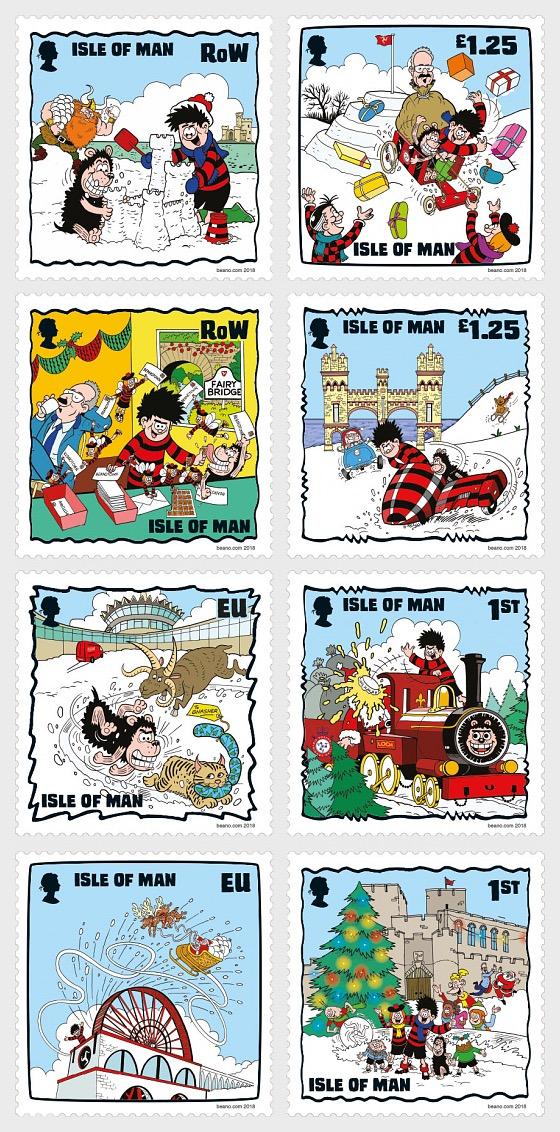 A Beano Christmas on the Isle of Man 2018 - (Set CTO) - Set CTO