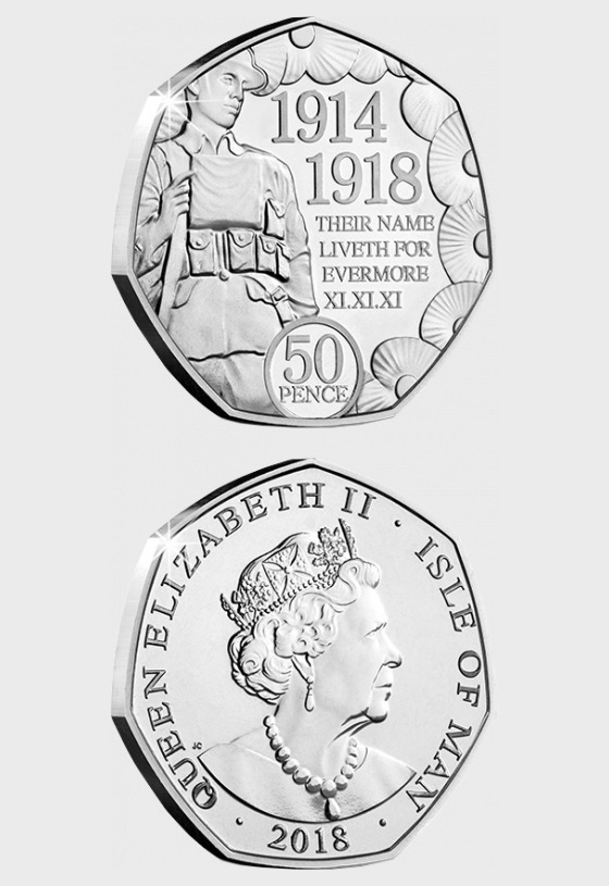 WW1 Armistice Centenary 2018 50p coin - Commemorative