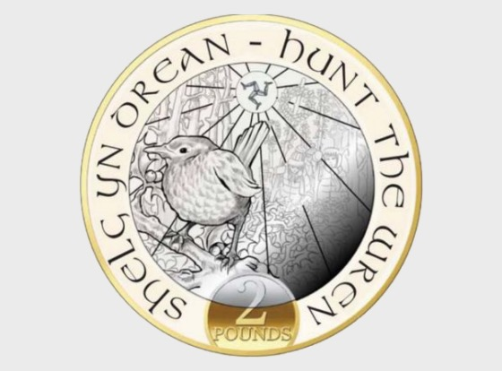 Hunt the Wren £2 Christmas Coin - Single Coin
