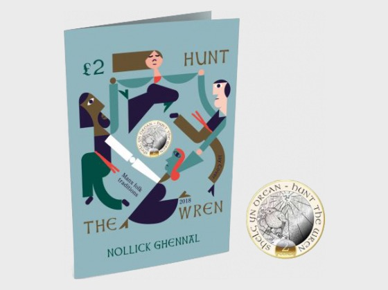 Hunt the Wren Christmas Card & Coin Gift Pack - Coin Card