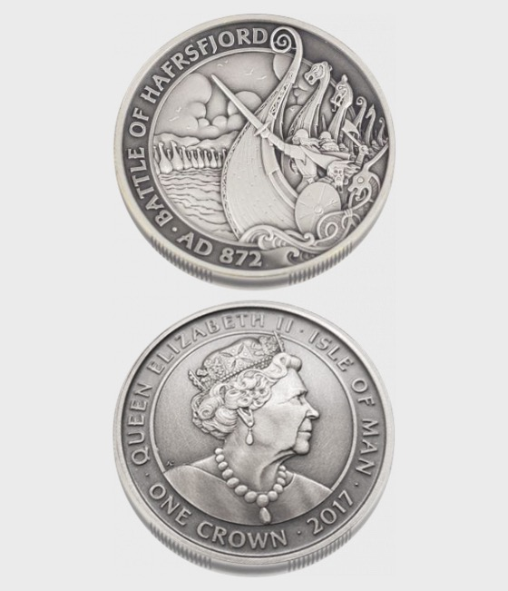 Battle of Hafrsfjord One Crown 2017 - Single Coin