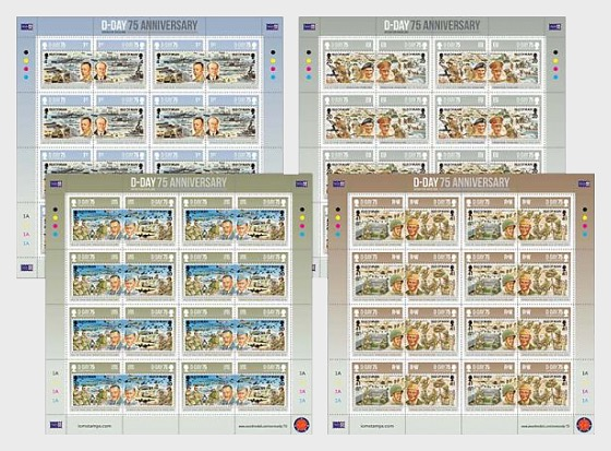 D-Day 75 - Sheet Mint - Full sheets