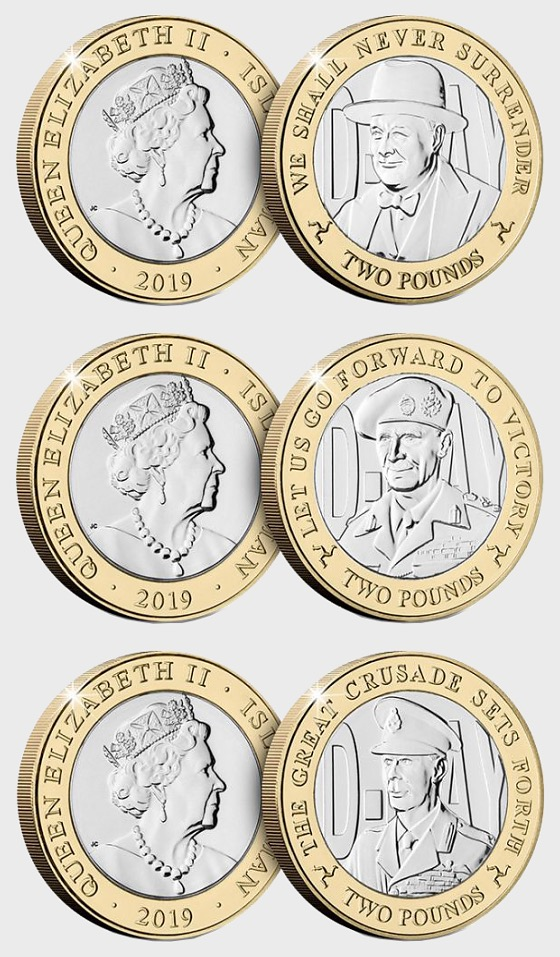 The 75th Anniversary of D-Day Three Coin Collection - Single Coin
