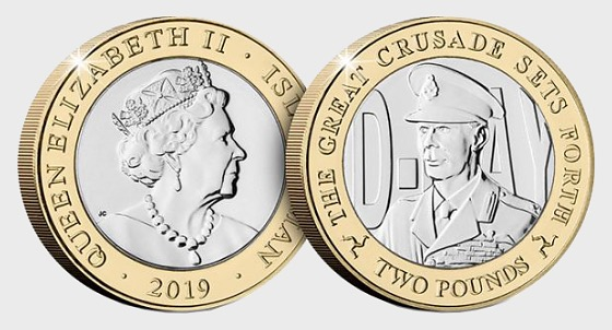 D-Day Commemorative £2 Coin - King George VI - Commemorative