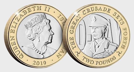 D-Day Commemorative £2 Coin - King George VI - Commemorative