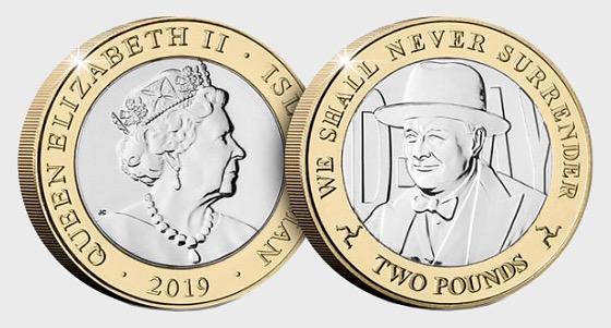 D-Day Commemorative £2 Coin - Churchill - Single Coin