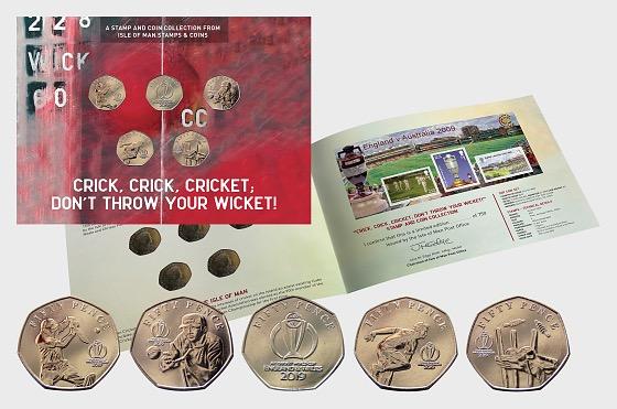 2019 Cricket 50p Coleccion de monedas - Commemorativa