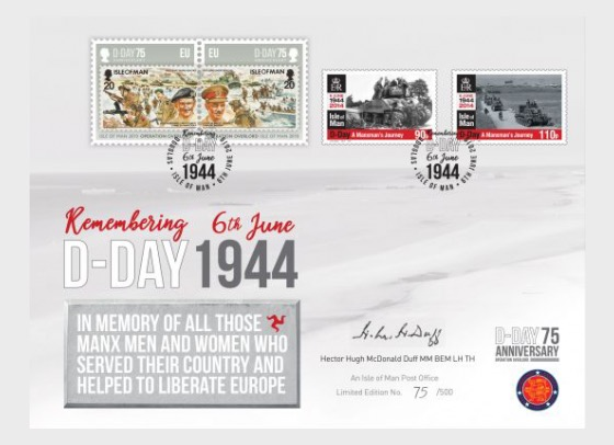 D-Day 75 Manxman Limited Edition Signed Cover - Collectibles
