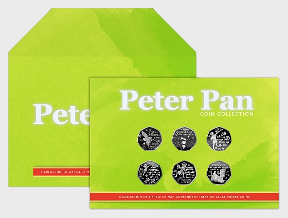 Peter Pan Six 50p Coin Collection - Uncirculated Quality - Commemorative