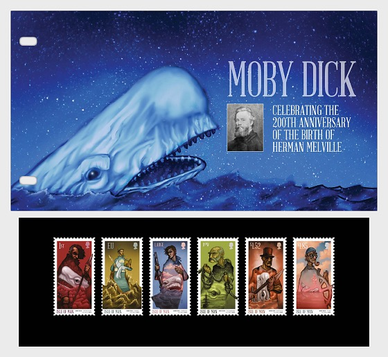 Moby Dick - Celebrating the 200th Ann of the Birth of Herman Melville - Presentation Pack