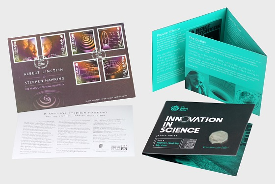 Stephen Hawking 2019 50p Coin Gift Pack - Coin Card
