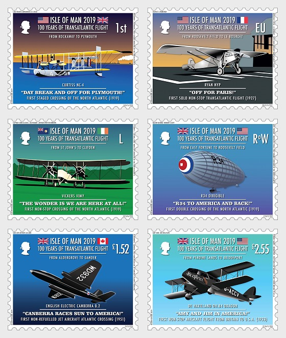 100 Years of Transatlantic Flight - Set CTO - Set CTO