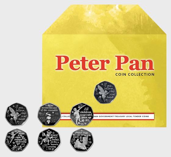 Coleccion de Monedas de Peter Pan Six 50p - Commemorativa