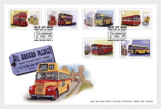 'All Aboard Please' Manx Buses Part 3 - First Day Cover