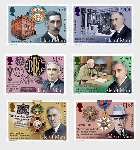 Sir Frank Gill KCMG OBE Telecommunications Engineer & Global Visionary - Set Mint - Set