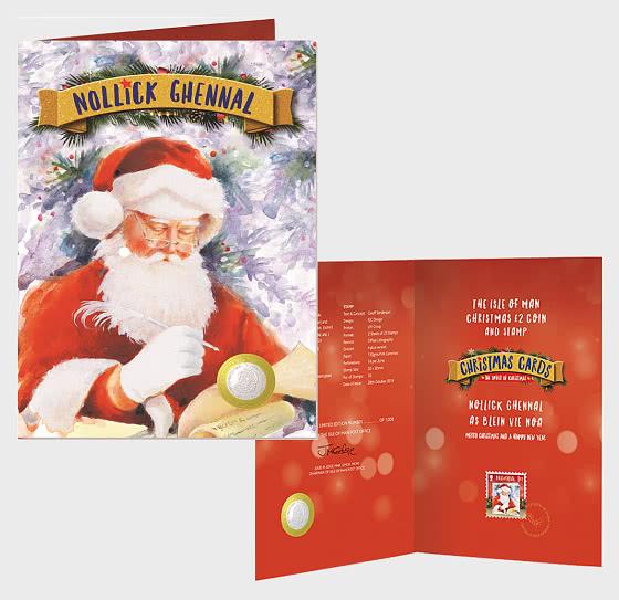 2019 Weihnachtsmann £ 2 Coin - Münz-Karte