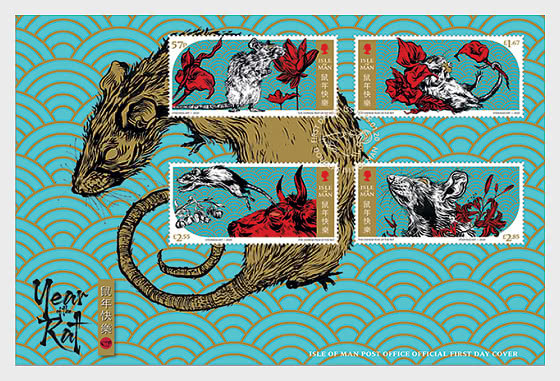 Lunar New Year - Year of the Rat 2020 - First Day Cover