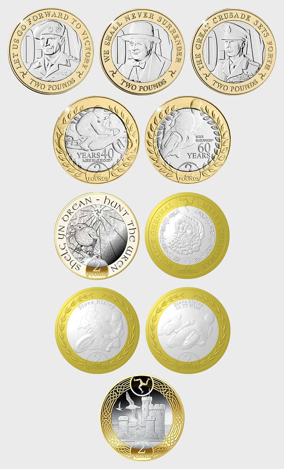 Collection of Isle of Man £2 coins - Single Coin