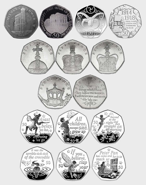 Collection of Isle of Man 50p Coins - Single Coin