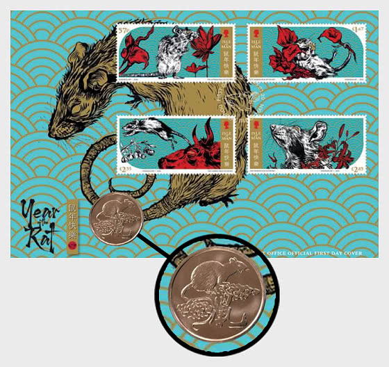 Year of the Rat 2020 Medallion Cover - Medal Cover