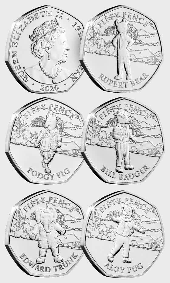 Rupert Bear 100th Anniversary 50p - Single Coin
