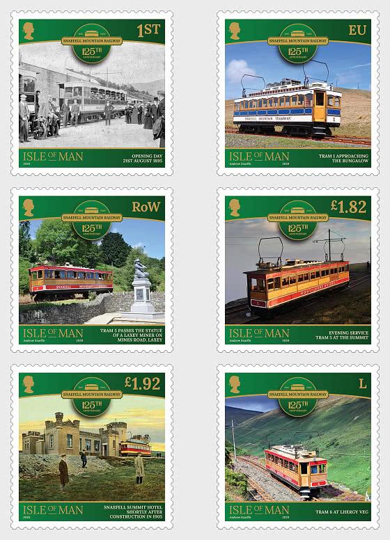 Snaefell Mountain Railway - 125th Anniversary - Set Mint - Set