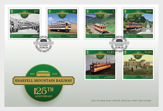 斯奈费尔山铁路-125周年 - 首日封