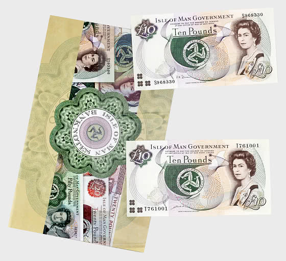 Mint Condition £10 Isle of Man Banknote Collection - Banknote