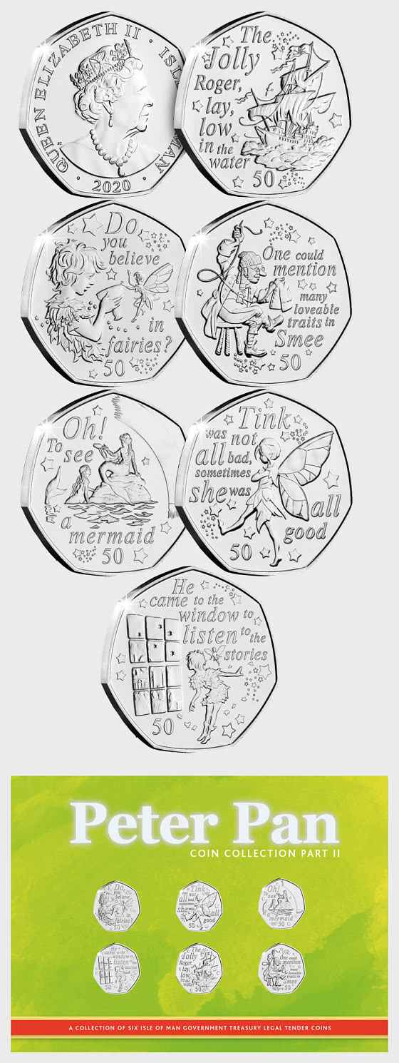 PRE-ORDER - Peter Pan Part II Six 50p Coin Collection Pack - Single Coin