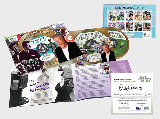 Mitch Murray's Top Ten - Deluxe Limited Edition Signed Stamp & CD-EP Collection - Collectibles