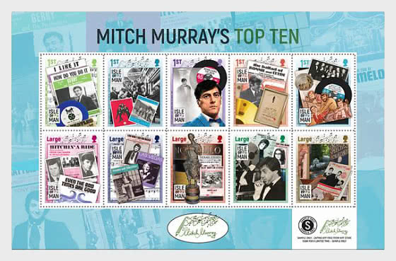 Mitch Murray's Top Ten - Booklet Pane Mint - Collectibles