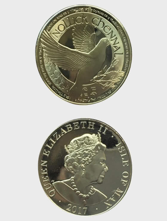 Isle of Man Treasury £5 Peace Coin - Single Coin
