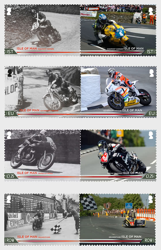 Centenary of the 37¾ miles Isle of Man TT Course - Set Mint - Set