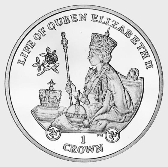 2012 HM Queen Coronation Crown - Gedenk