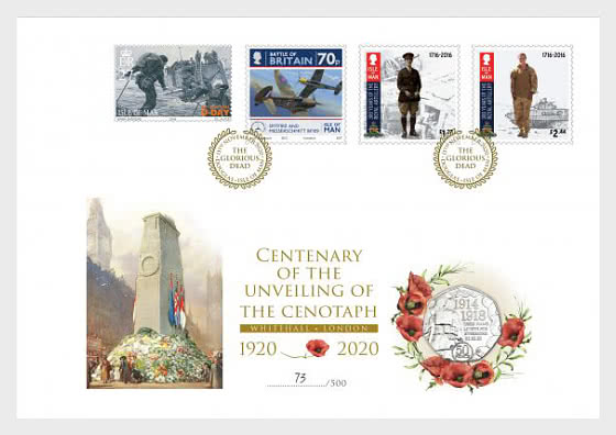 The Centenary of the Unveiling of the Cenotaph PNC - Coin Cover