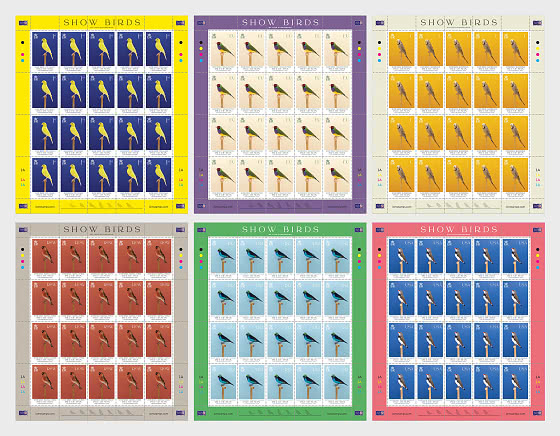 Show Birds - Sheets Mint - Full sheets