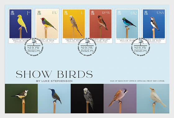 Show Birds - First Day Cover