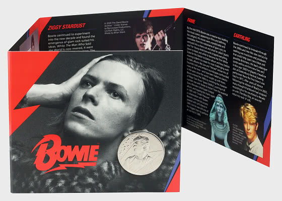 David Bowie BU £5 Coin Gift Pack - Single Coin