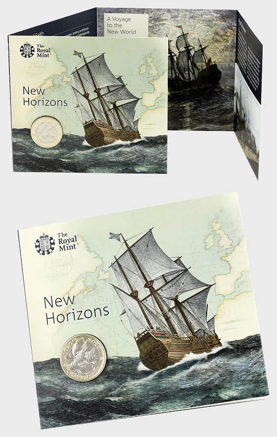Mayflower 400 Brilliant Uncirculated £2 Coin Gift Pack - Coin Card