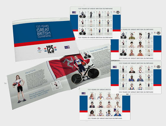 Great British Olympians - 125th Anniversary of the Modern Olympic Games - Prestige SB - Mint - Stamp Booklet