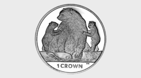 Kermode Bear- (Crown In a Box) - Commemorative