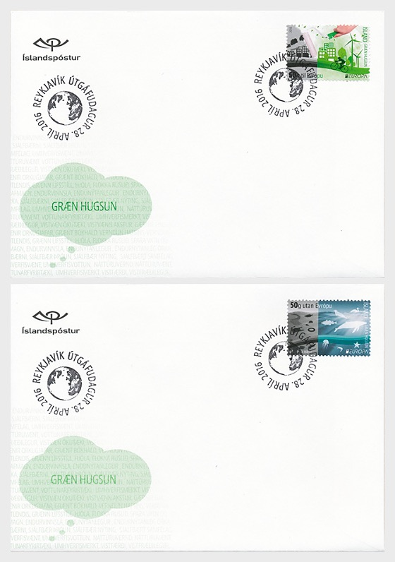 Europa 2016 - Think Green - First Day Cover single stamp