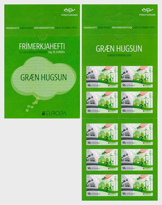 Europa 2016 - Think Green (50g to Europe) - Stamp Booklet