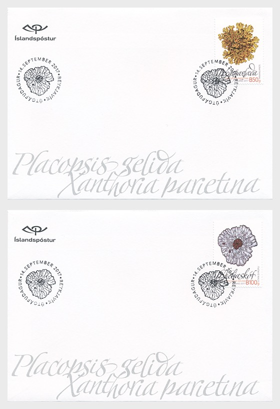 Wild Icelandic Vegetation II- (FDC Single Stamp) - First Day Cover single stamp