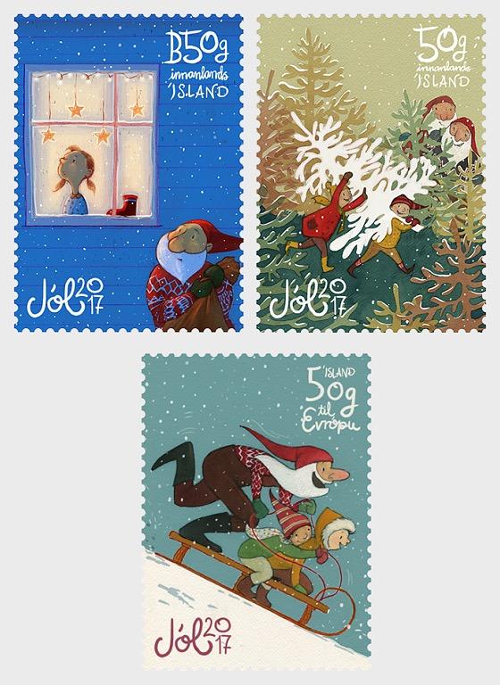 christmas stamps 2017 set