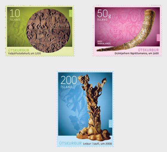 Isländisches Handwerk Ii Schnitzkunst Island Briefmarken