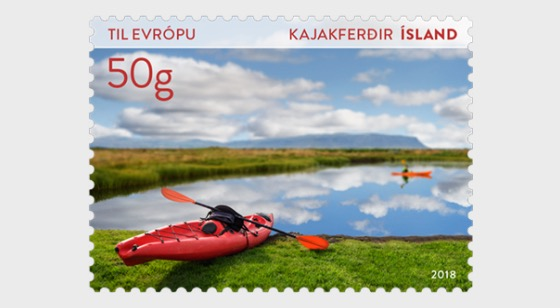 Tourist Stamps VII - (Kayaking) - Set